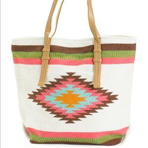 Bohemian Aztec design tote bag